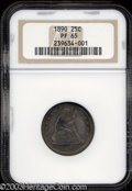 Proof Seated Quarters: , 1890 25C PR65 NGC. Deeply and nicely toned, a little ...