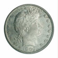 Barber Quarters: , 1900-S 25C MS65 PCGS. A lightly patinated silver-gray Gem ...
