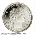Proof Barber Quarters: , 1892 25C PR67 Cameo NGC. Type Two Reverse. The snow-white ...