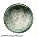 Proof Barber Quarters: , 1893 25C PR67 Cameo NGC. Deeply mirrored with thick mint ...