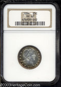 Proof Barber Quarters: , 1894 25C PR67 NGC. Radiant honey-gold, ruby-red, and ...
