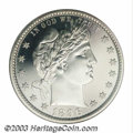 Proof Barber Quarters: , 1896 25C PR68 Cameo NGC. Of the coins remaining today out ...