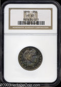 Proof Barber Quarters: , 1910 25C PR67 NGC. It appears that beneath the toning ...