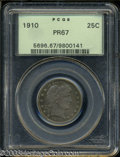 Proof Barber Quarters: , 1910 25C PR67 PCGS. The fields are very deeply mirrored ...