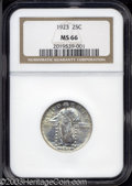 Standing Liberty Quarters: , 1923 25C MS66 NGC. Portions of this well struck coin's ...
