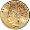 Indian Eagles, 1909-S $10 MS66 PCGS....