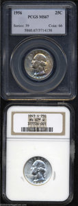 Washington Quarters: , 1943-S 25C MS67 ★ W NGC, trumpet tail mintmark (which ... (2 Coins)