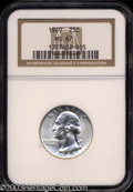 Washington Quarters: , 1949 25C MS67 NGC. A well struck, untoned, and frosty ...