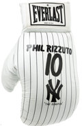 Baseball Collectibles:Others, Oversized New York Yankees Everlast Glove from the Phil RizzutoCollection. Baseball Hall of Famer and long-time announcer f...