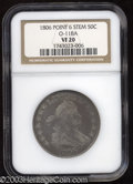 Early Half Dollars: , 1806 50C Pointed 6, Stem VF20 NGC. O-118a, R.3. Bold die ...
