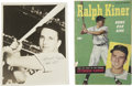Autographs:Index Cards, Ralph Kiner Lot including Signed Post Card. Ralph Kiner, a memberof the Hall of Fame was a great home run hitter during h...