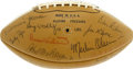 Football Collectibles:Balls, 1964 Los Angeles Rams Team Signed Football. The hallmark of the 1964 Los Angeles Rams squad was their intimidating defensiv...
