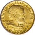 Commemorative Gold, 1922 G$1 Grant no Star MS67 PCGS. CAC....
