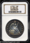 Proof Seated Dollars: , 1861 $1 PR64 NGC. The listed proof mintage of this Civil ...
