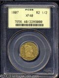 Early Quarter Eagles: , 1807 $2 1/2 XF40 PCGS. Bass-3016, Breen-6124, R.3. The ...