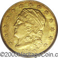 Early Quarter Eagles: , 1830 $2 1/2 AU53 PCGS. Breen-6133, R.4. Only one die ...