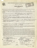 "Music Memorabilia:Autographs and Signed Items, Eddie ""Lockjaw"" Davis Signed Contract. A one-page, double-sidedAmerican Federation of Musicians contract, dated October 7, ..."