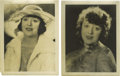 Movie/TV Memorabilia:Photos, Two Photos of Mabel Normand. Here's Mabel Normand as she surelywould have wanted her fans to remember her: pretty, wistful,...