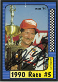 Autographs:Others, Dale Earnhardt Signed Trading Card. Card from the 1991 Maxx issuefeatures a bold black sharpie application of the racing l...