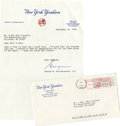 Autographs:Letters, George Steinbrenner Signed Letter. From the Phil Rizzutocollection, we offer this type written letter from GeorgeStreinbr...