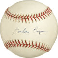 Autographs:Baseballs, Astronaut Gordon Cooper Single Signed Baseball. One of the originalseven astronauts chosen for NASA, Cooper flew as comman...
