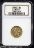 Liberty Half Eagles: , 1878-S $5 MS61 NGC. Bright and original with a number of ...