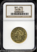 Liberty Eagles: , 1845 $10 AU55 NGC. A boldly struck example of this ...