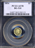 California Fractional Gold: , 1854 $1 Liberty Octagonal 1 Dollar, BG-510, Low R.5, AU58 ...