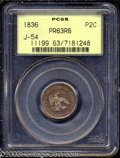 Patterns: , 1836 P2C Two Cents, Judd-54, Pollock-57, R.6, PR63 Red and ...