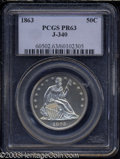Patterns: , 1863 50C Half Dollar, Judd-340, Pollock-412, R.7, PR63 PCGS....