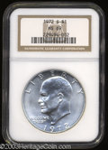 Eisenhower Dollars: , 1972-S $1 Silver MS69 NGC. An exceptionally lustrous ...