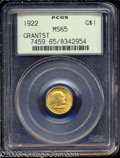 Commemorative Gold: , 1922 G$1 Grant with Star MS65 PCGS. Bright and well ...