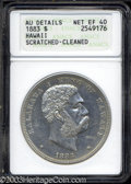 Coins of Hawaii: , 1883 $1 Hawaii Dollar--Scratched, Cleaned--ANACS. AU ...