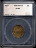 Additional Certified Coins: , 1866 2C Two Cent Piece MS65 Red and Brown SEGS (MS65 Red ...