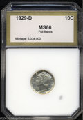 Additional Certified Coins: , 1929-D 10C Dime MS66 Full Bands PCI (MS65 Full Bands). A ...