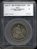 Additional Certified Coins: , 1844-O 50C Doubled Date Half Dollar VG8 Attempt to Remove ...