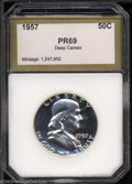 Additional Certified Coins: , 1957 50C Half Dollar PR69 Deep Cameo PCI (PR68 Cameo). ...