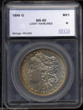 Additional Certified Coins: , 1895-O $1 Morgan Dollar MS60 Light Hairlines SEGS (AU58 ...