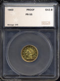 Additional Certified Coins: , 1900 $2 1/2 Quarter Eagle PR55 SEGS (PR50). In Breen's ...