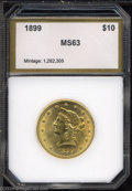 Additional Certified Coins: , 1899 $10 Eagle MS63 PCI. A nicely struck piece with good ...