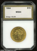 Additional Certified Coins: , 1904 $10 Eagle MS64 PCI (MS62). Booming luster and bright ...