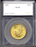 Additional Certified Coins: , 1932 $10 Eagle MS65 SEGS (MS63). Booming luster and a ...