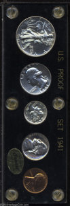Proof Sets: , 1941 Proof Set, all brilliant, Uncertified specimens ... (5 coins)