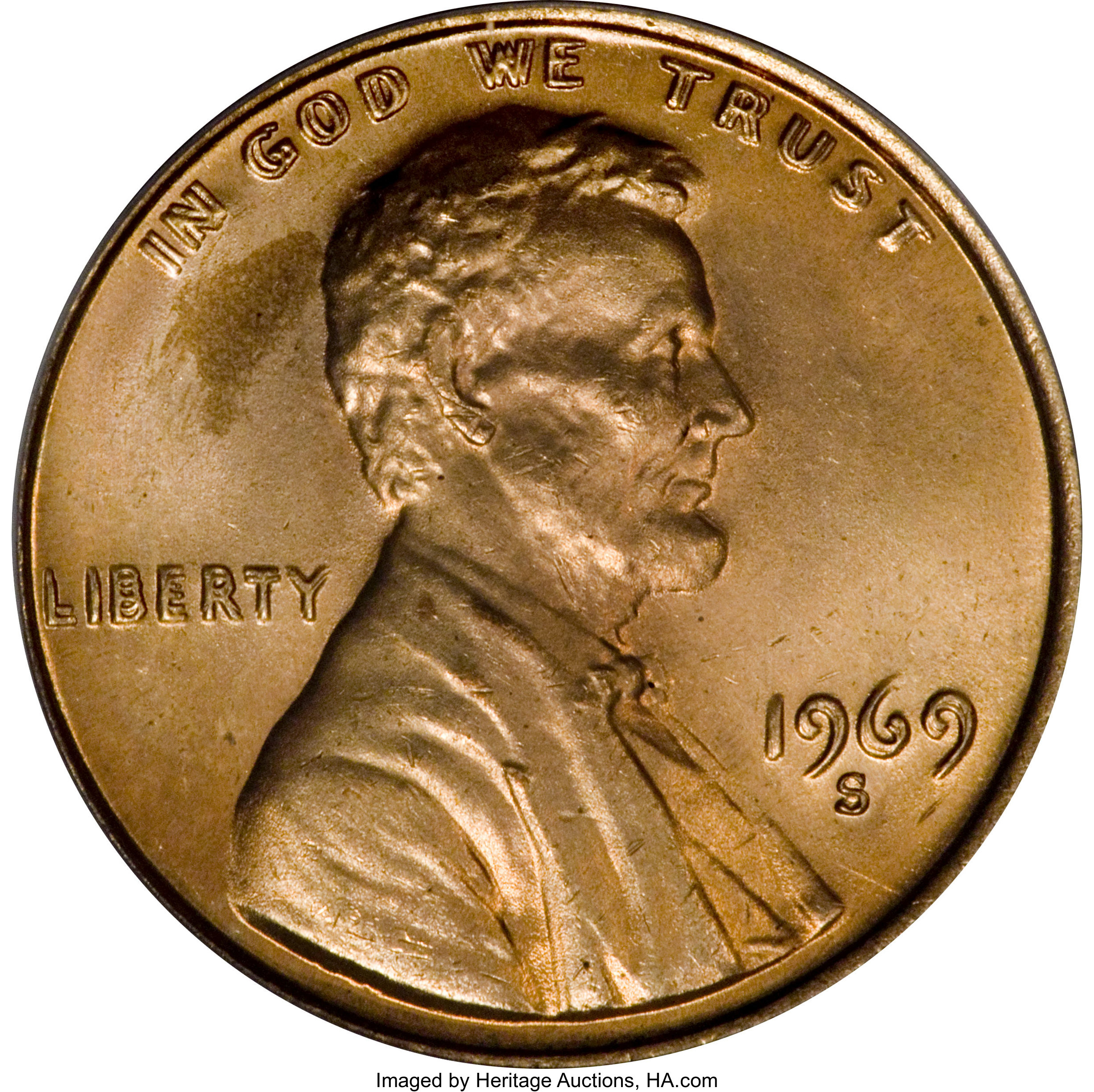 15/% off 5+ 1969 S Lincoln Penny BU From Mint Roll