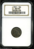 Bust Dimes: , 1821 Large Date AU50 NGC. The current Coin Dealer ...