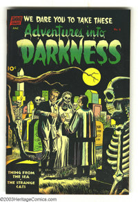 Adventures Into Darkness #6 (Standard, 1952) Condition: FN. George Tuska art. Overstreet 2003 FN 6.0 value = $78. From t...