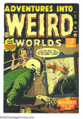 Golden Age (1938-1955):Horror, Adventures Into Weird Worlds #11 (Atlas, 1952) Condition: FN/VF.Bill Everett, Joe Maneely art. Overstreet 2003 FN 6.0 value...