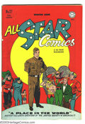 Golden Age (1938-1955):Superhero, All Star Comics #27 Justice Society of America (DC, 1945) Condition: VG/FN. Wildcat appearance. Martin Nodell cover art. Whi...