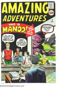 Silver Age (1956-1969):Horror, Amazing Adventures #2 (Marvel, 1961) Condition: VG+. Jack Kirby,Steve Ditko art. Overstreet 2003 VG 4.0 value = $96....