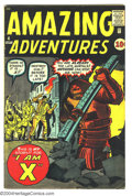 Silver Age (1956-1969):Horror, Amazing Adventures #4 (Marvel, 1961) Condition: VG+. Jack Kirby,Steve Ditko art. Overstreet 2003 VG 4.0 value = $84....